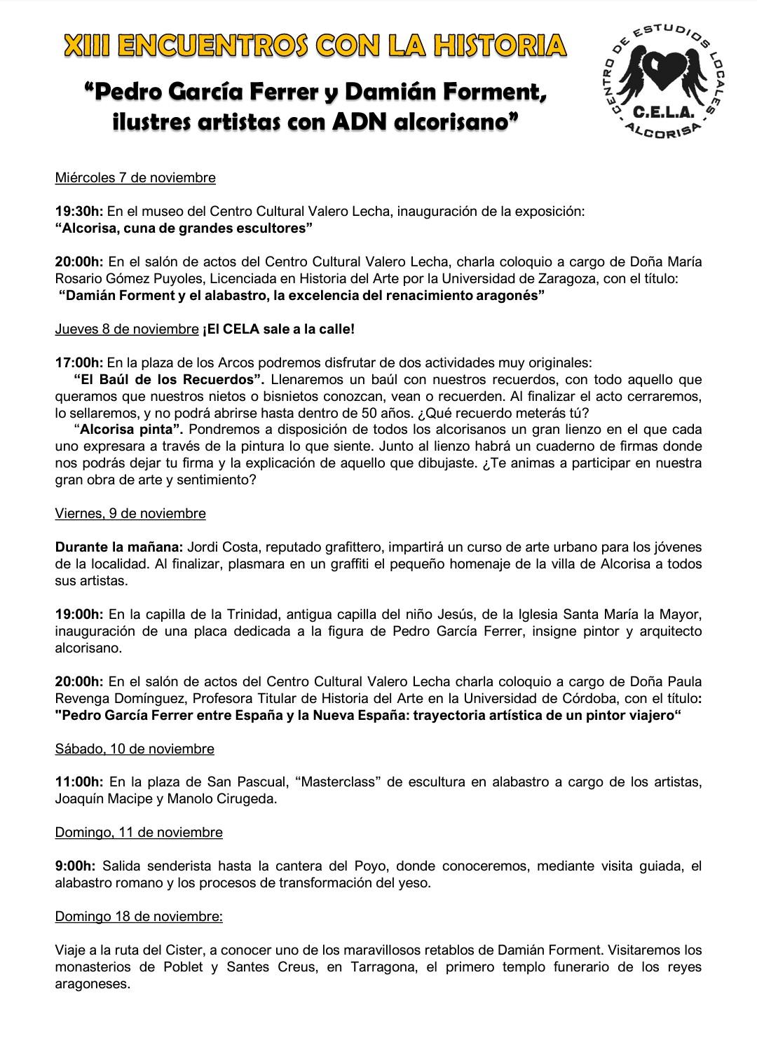 XIII Encuentros con la Historia del CELA en Alcorisa