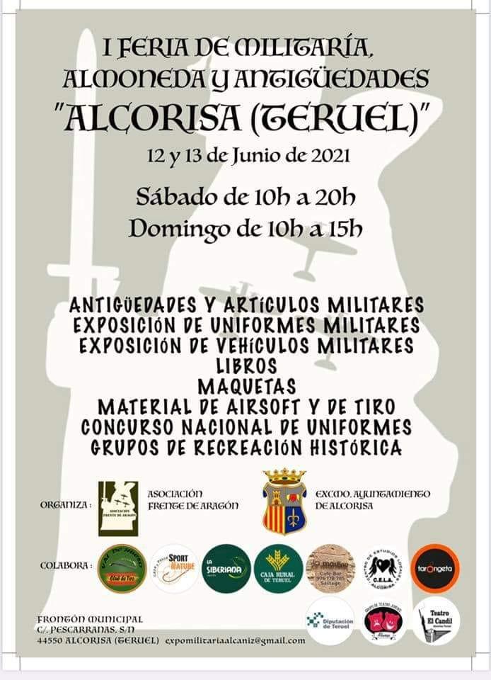 I Feria de Militaría, almoneda y antigüedades en Alcorisa